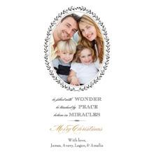 Christmas Photo Cards 4x8 Flat Card Set, 85lb, Card & Stationery -Wonder, Peace & Miracles