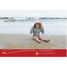 Christmas Photo Cards 5x7 Cards, Premium Cardstock 120lb with Rounded Corners, Card & Stationery -Holiday Glitter
