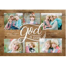 Christmas Photo Cards 5x7 Cards, Premium Cardstock 120lb with Rounded Corners, Card & Stationery -Christmas God is Good Collage