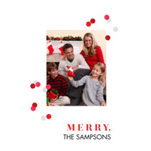 Christmas Photo Cards 5x7 Cards, Premium Cardstock 120lb with Elegant Corners, Card & Stationery -Showered In Cheer by Foto Crush