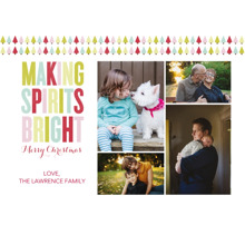 Christmas Photo Cards 5x7 Cards, Premium Cardstock 120lb with Rounded Corners, Card & Stationery -Making Spirits Bright