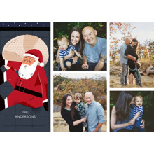 Christmas Photo Cards 5x7 Cards, Premium Cardstock 120lb with Rounded Corners, Card & Stationery -Santa Clause Collage