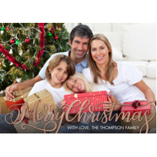 Christmas Photo Cards 5x7 Cards, Premium Cardstock 120lb with Elegant Corners, Card & Stationery -Christmas Fancy Script