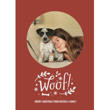 Christmas Photo Cards 5x7 Cards, Premium Cardstock 120lb with Rounded Corners, Card & Stationery -Canine Christmas