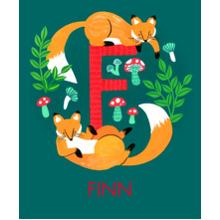 Non Photo Sherpa Blanket, Gift -Animal Monogram F