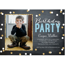 Birthday Party Invites 5x7 Cards, Premium Cardstock 120lb, Card & Stationery -Birthday Party Confetti