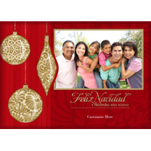 Christmas Photo Cards 5x7 Cards, Premium Cardstock 120lb with Elegant Corners, Card & Stationery -Feliz Navidad