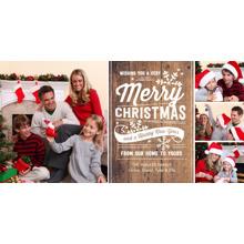 Christmas Photo Cards 4x8 Flat Card Set, 85lb, Card & Stationery -Christmas Festive Greetings