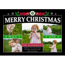 Christmas Photo Cards 5x7 Cards, Premium Cardstock 120lb with Rounded Corners, Card & Stationery -Christmas Classic