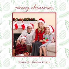 Christmas Photo Cards 5x5 Flat Card Set, 85lb, Card & Stationery -Forest Christmas