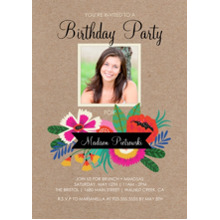 Birthday Party Invites 5x7 Cards, Premium Cardstock 120lb with Elegant Corners, Card & Stationery -Birthday Flowers