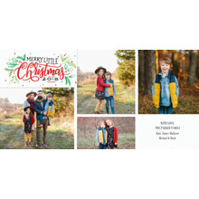 Christmas Photo Cards 4x8 Flat Card Set, 85lb, Card & Stationery -2018 Christmas Merry Little by Tumbalina