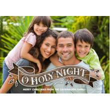 Christmas Photo Cards 5x7 Cards, Premium Cardstock 120lb with Rounded Corners, Card & Stationery -O Holy Night Banner