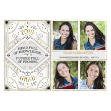 2019 Graduation Announcements 5x7 Cards, Premium Cardstock 120lb with Scalloped Corners, Card & Stationery -Full of Promise by Hallmark