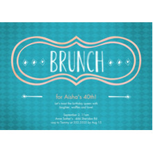Birthday Party Invites 5x7 Cards, Premium Cardstock 120lb, Card & Stationery -Brunch