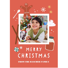 Christmas Photo Cards 5x7 Cards, Premium Cardstock 120lb with Elegant Corners, Card & Stationery -Gingerbread Christmas