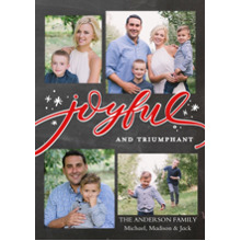Christmas Photo Cards 5x7 Cards, Premium Cardstock 120lb with Rounded Corners, Card & Stationery -Christmas Joyful