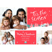 Christmas Photo Cards 5x7 Cards, Premium Cardstock 120lb with Elegant Corners, Card & Stationery -Merry Season