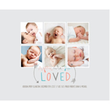 Baby + Kids Framed Canvas Print, Black, 16x20, Home Decor -So Loved