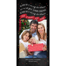 Christmas Photo Cards 4x8 Flat Card Set, 85lb, Card & Stationery -A Banner Full of Wishes