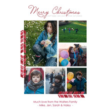 Christmas Photo Cards 5x7 Cards, Premium Cardstock 120lb with Rounded Corners, Card & Stationery -Elegant Christmastime Wishes