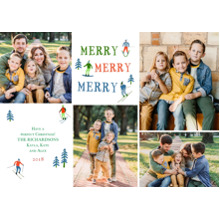 Christmas Photo Cards 5x7 Cards, Premium Cardstock 120lb with Elegant Corners, Card & Stationery -Snow Sport by Gartner