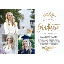 2019 Graduation Announcements 5x7 Cards, Premium Cardstock 120lb with Rounded Corners, Card & Stationery -2019 Grad Foliage by Tumbalina