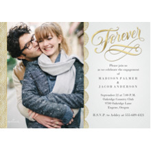 Anniversary Invitations 5x7 Cards, Premium Cardstock 120lb, Card & Stationery -Gold Scallop Forever