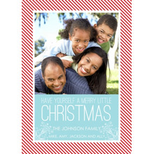 Christmas Photo Cards 5x7 Cards, Premium Cardstock 120lb with Elegant Corners, Card & Stationery -Have Yourself a Merry Little Christmas