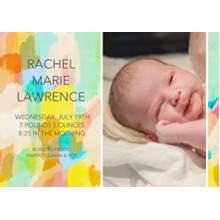 Baby Announcements 5x7 Cards, Premium Cardstock 120lb, Card & Stationery -Paint Stroke Sunrise
