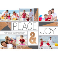 Christmas Photo Cards 5x7 Cards, Premium Cardstock 120lb with Rounded Corners, Card & Stationery -Modern Peace & Joy