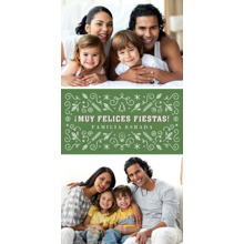 Christmas Photo Cards 4x8 Flat Card Set, 85lb, Card & Stationery -Muy Felices Fiestas