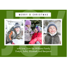 Christmas Photo Cards 5x7 Cards, Premium Cardstock 120lb with Elegant Corners, Card & Stationery -Simple Joy