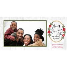 Christmas Photo Cards 4x8 Flat Card Set, 85lb, Card & Stationery -Rustic Wreath