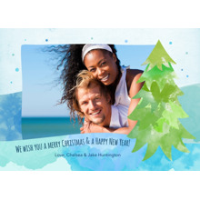 Christmas Photo Cards 5x7 Cards, Premium Cardstock 120lb with Elegant Corners, Card & Stationery -Green Tree Christmas