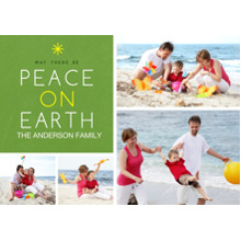 Christmas Photo Cards 5x7 Cards, Premium Cardstock 120lb with Elegant Corners, Card & Stationery -Modern Peace on Earth