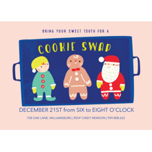 Christmas Party Invitations 5x7 Cards, Premium Cardstock 120lb with Rounded Corners, Card & Stationery -Sweet Tooth Cookie Swap