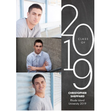 2019 Graduation Announcements 5x7 Cards, Premium Cardstock 120lb with Rounded Corners, Card & Stationery -2019 Class of Modern by Tumbalina