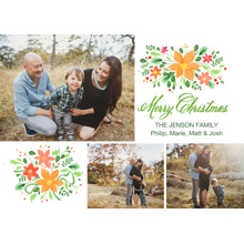 Christmas Photo Cards 5x7 Cards, Premium Cardstock 120lb with Elegant Corners, Card & Stationery -Poinsettia