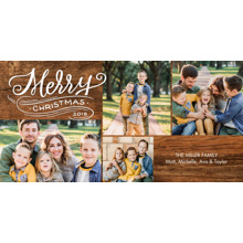 Christmas Photo Cards 4x8 Flat Card Set, 85lb, Card & Stationery -Christmas 2018 Swirl Snapshots by Tumbalina