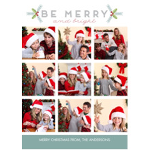 Christmas Photo Cards 5x7 Cards, Premium Cardstock 120lb with Elegant Corners, Card & Stationery -Merry Geometric