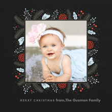Christmas Photo Cards 5x5 Flat Card Set, 85lb, Card & Stationery -Berry Merry