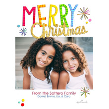 Christmas Photo Cards 5x7 Cards, Premium Cardstock 120lb with Rounded Corners, Card & Stationery -Colorful & Bright Christmas