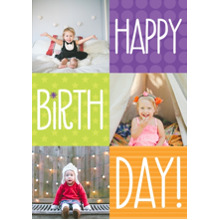 Birthday Party Invites 5x7 Cards, Premium Cardstock 120lb with Elegant Corners, Card & Stationery -Bright Color Box Birthday
