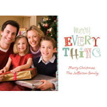 Christmas Photo Cards 5x7 Cards, Premium Cardstock 120lb with Rounded Corners, Card & Stationery -Merry Everything