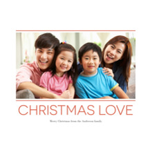 Christmas Photo Cards 5x7 Cards, Premium Cardstock 120lb with Elegant Corners, Card & Stationery -Loving Christmas
