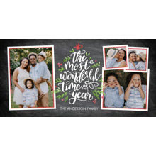 Christmas Photo Cards 4x8 Flat Card Set, 85lb, Card & Stationery -Christmas Most Wonderful Time