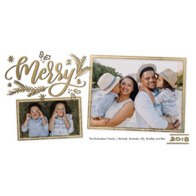 Christmas Photo Cards 4x8 Flat Card Set, 85lb, Card & Stationery -2018 Christmas Merry Frames by Tumbalina
