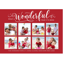 Christmas Photo Cards 5x7 Cards, Premium Cardstock 120lb with Rounded Corners, Card & Stationery -What a Wonderful Year