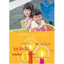 Birthday Greeting Cards 5x7 Cards, Premium Cardstock 120lb, Card & Stationery -Make A Wish